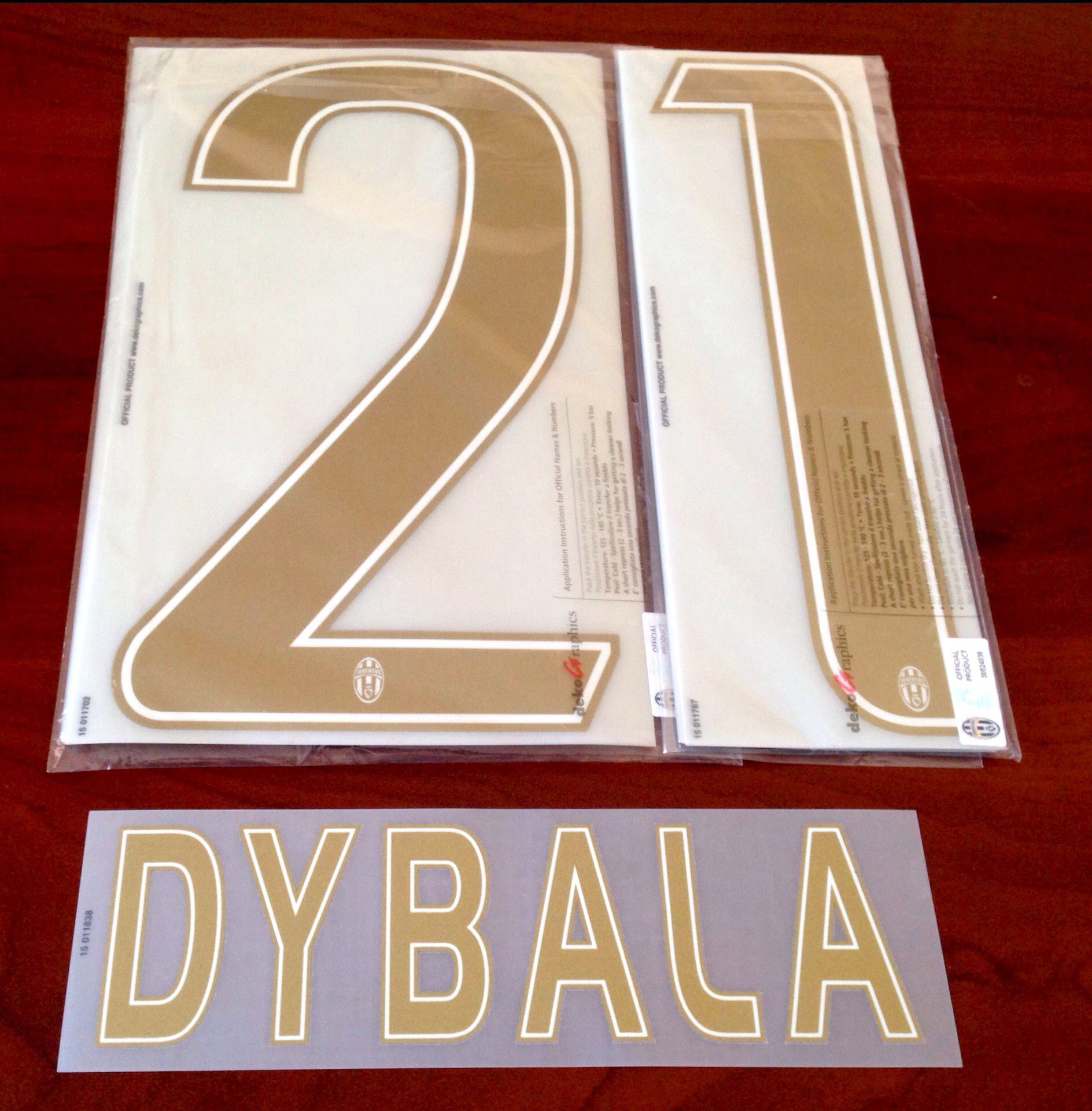2015 16 Juventus DYBALA 21 UCL 3rd Away Shirt OFFICIAL DekoGraphics Name Number Set