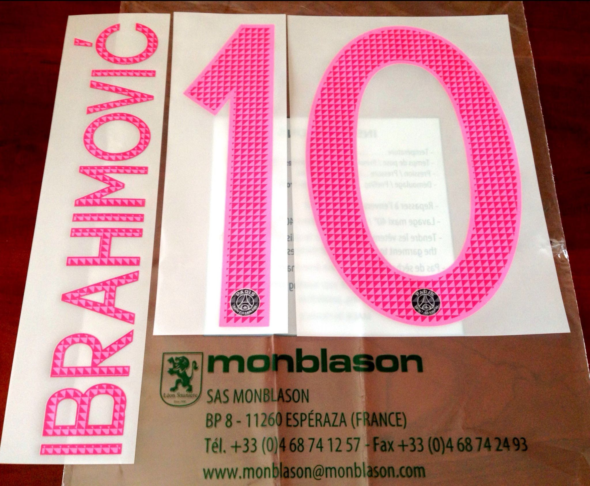 2015 16 PSG Paris IBRAHIMOVIC 10 UCL 3rd Away Shirt OFFICIAL MonBlason Name Number Set