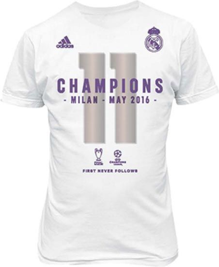 adidas br0140 real madrid 2016 champions league winners soccer football tee size large new. Black Bedroom Furniture Sets. Home Design Ideas