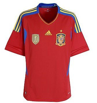 Adidas v14921 spain 2010 world cup champions football for Spain t shirt football