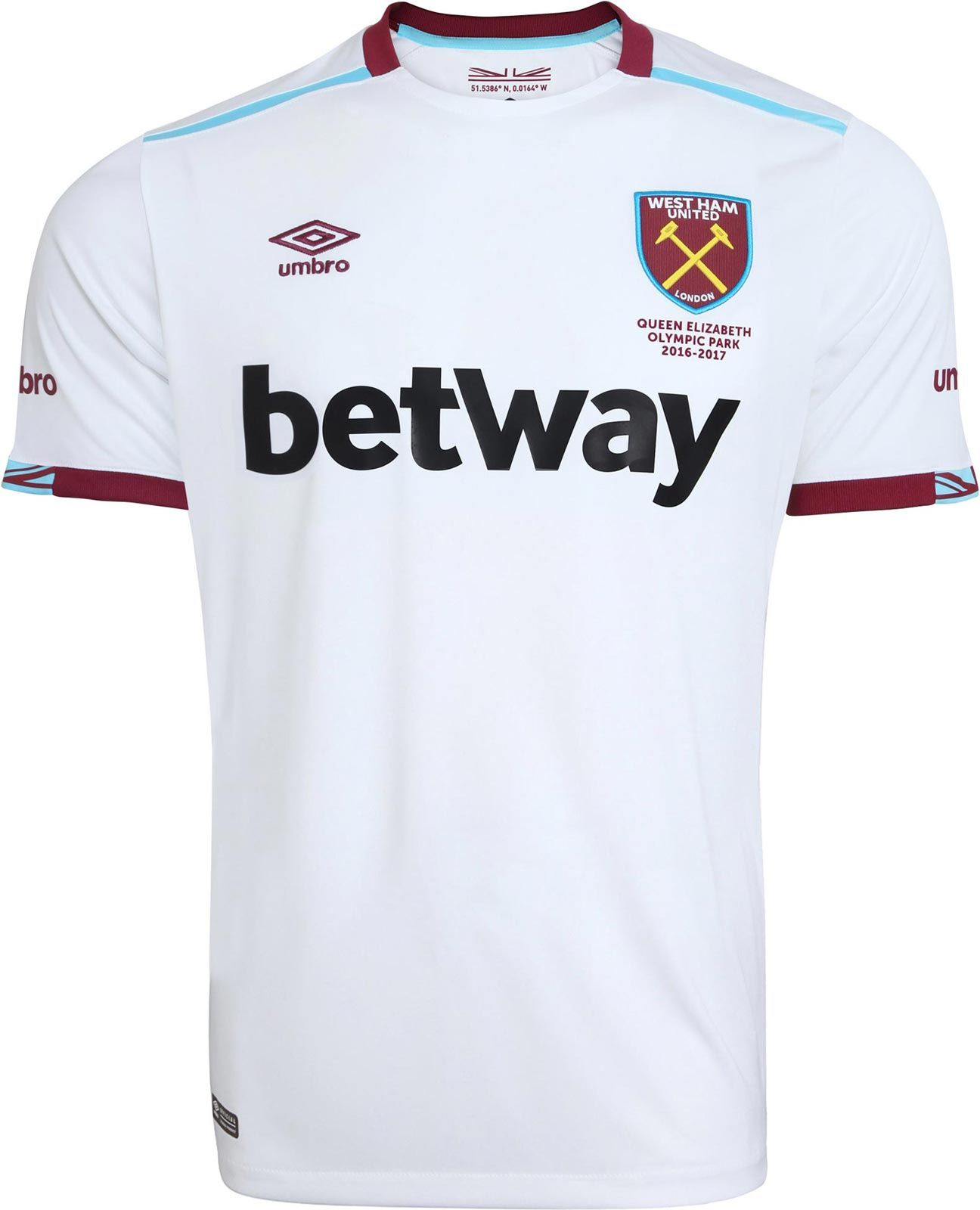 Umbro Bb46813226 West Ham United Football Soccer Away