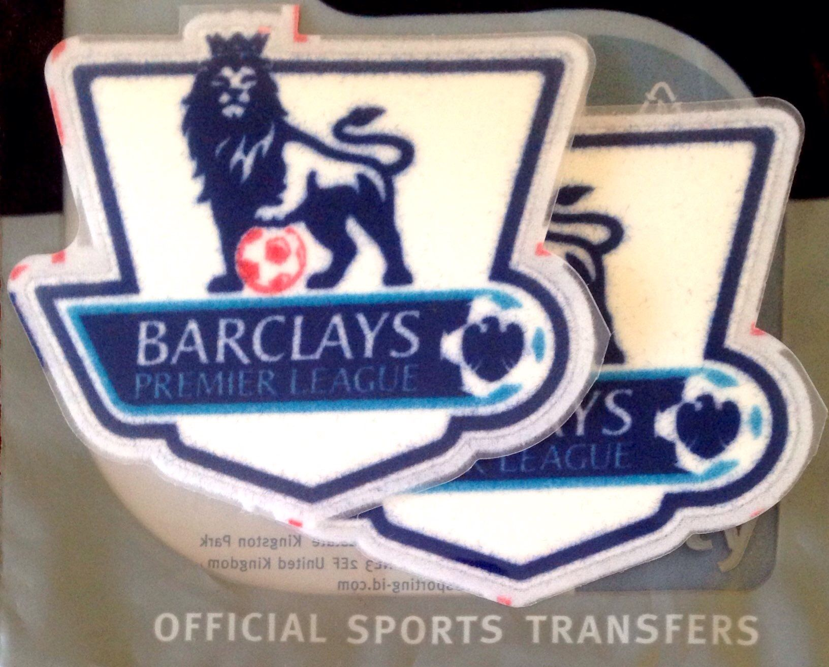 2007-13 FA Premier League Official SportingiD Adult Replica Size Football  Soccer Badge Patch Set