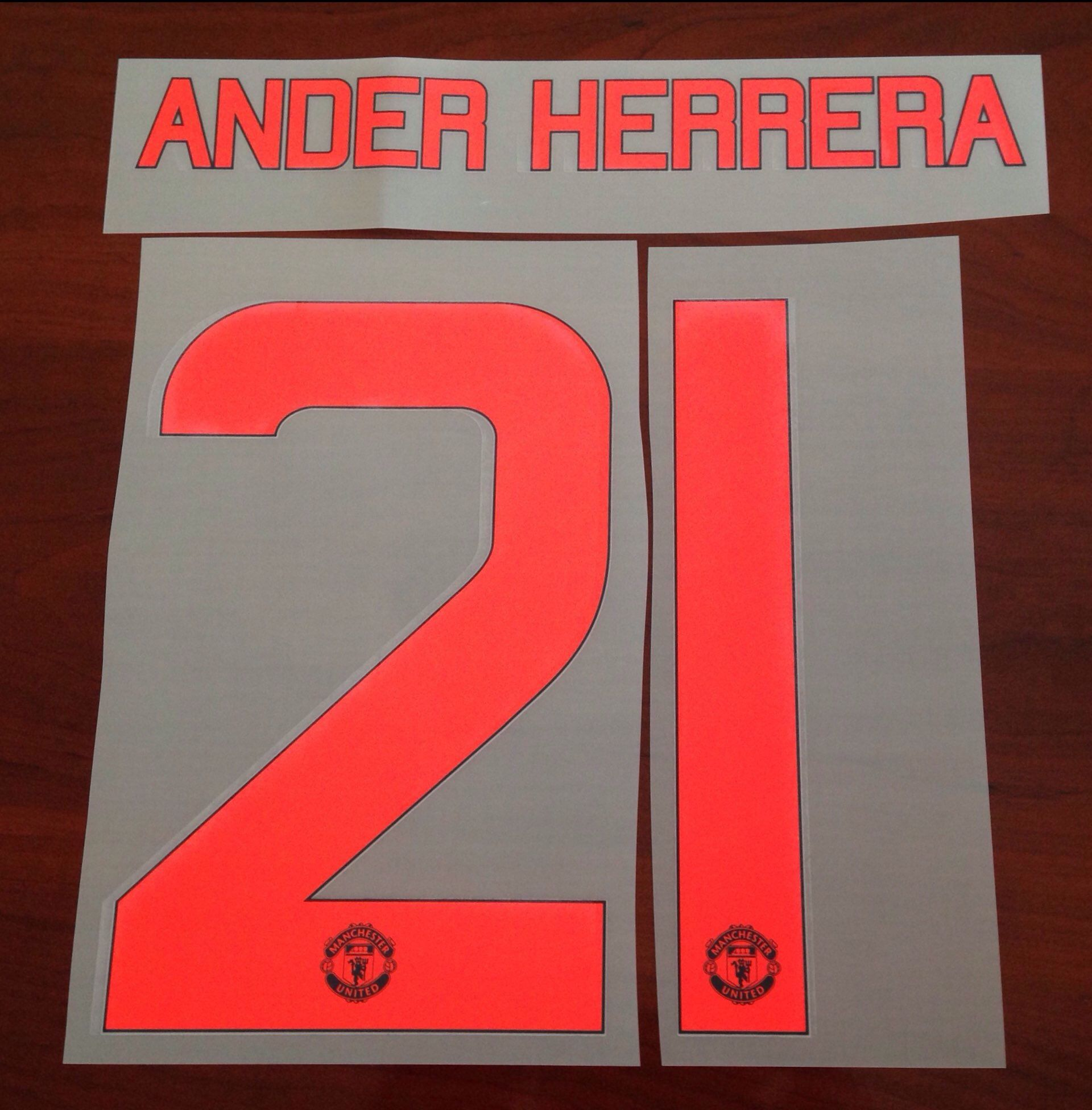 newest 5e49a 36154 2015-16 Manchester Utd UCL & FA CUP 3rd Away Shirt ANDER HERRERA#21  OFFICIAL Name Number Set