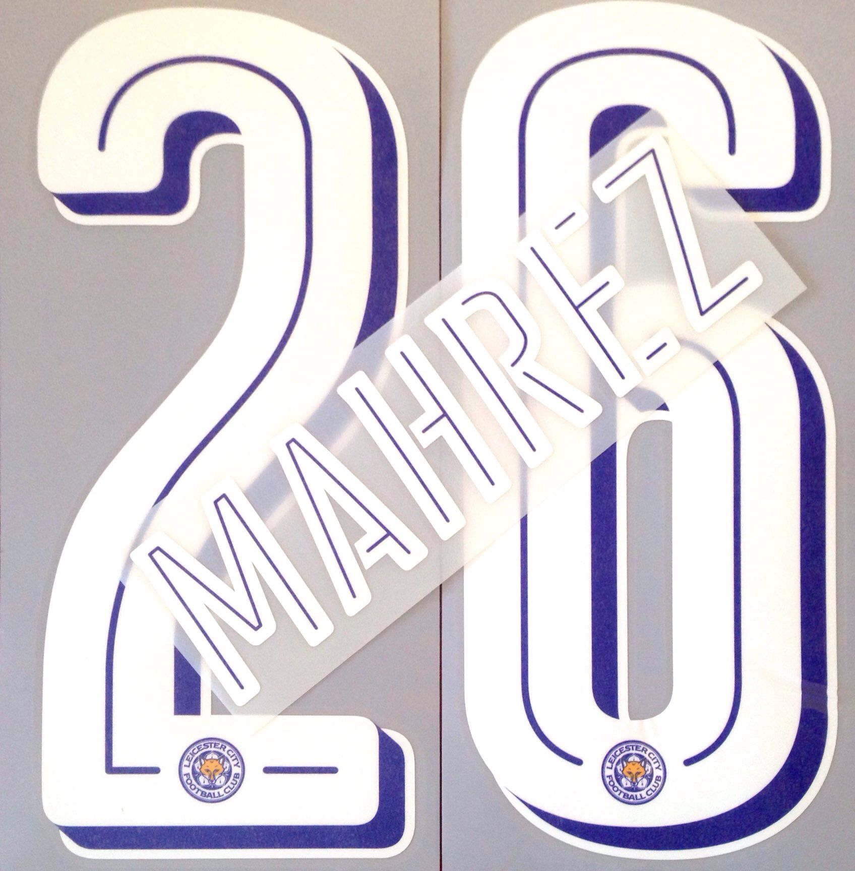 lowest price 96be7 ad3f5 2016-17 Leicester City UCL Home & Away Shirt MAHREZ#26 SportingiD Name  Number Set