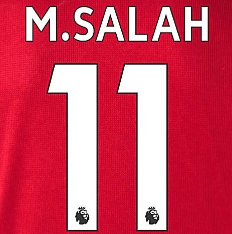 best sneakers 9b401 de7cb 2017-18/19 Liverpool Home & Away Shirt M.SALAH#11 PS-Pro SportingiD Name  Number Set