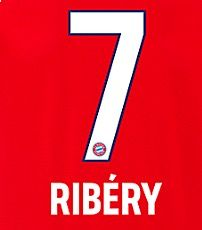 2018-19 Bayern Munich Home Shirt RIBERY#7 OFFICIAL SportingID Name Number Set