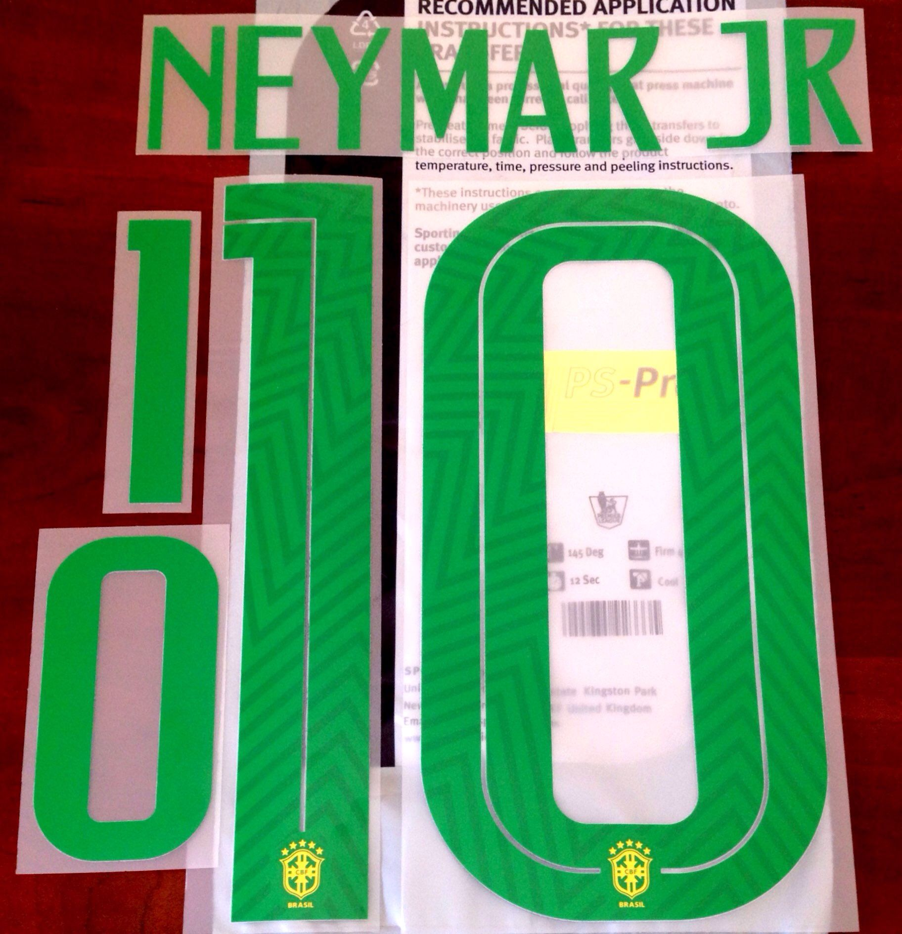 2c17ee309 2018-19 Brazil WORLD CUP 2018 Home Shirt NEYMAR JR 10 Nike PS-Pro Sporting  iD Name Number Set