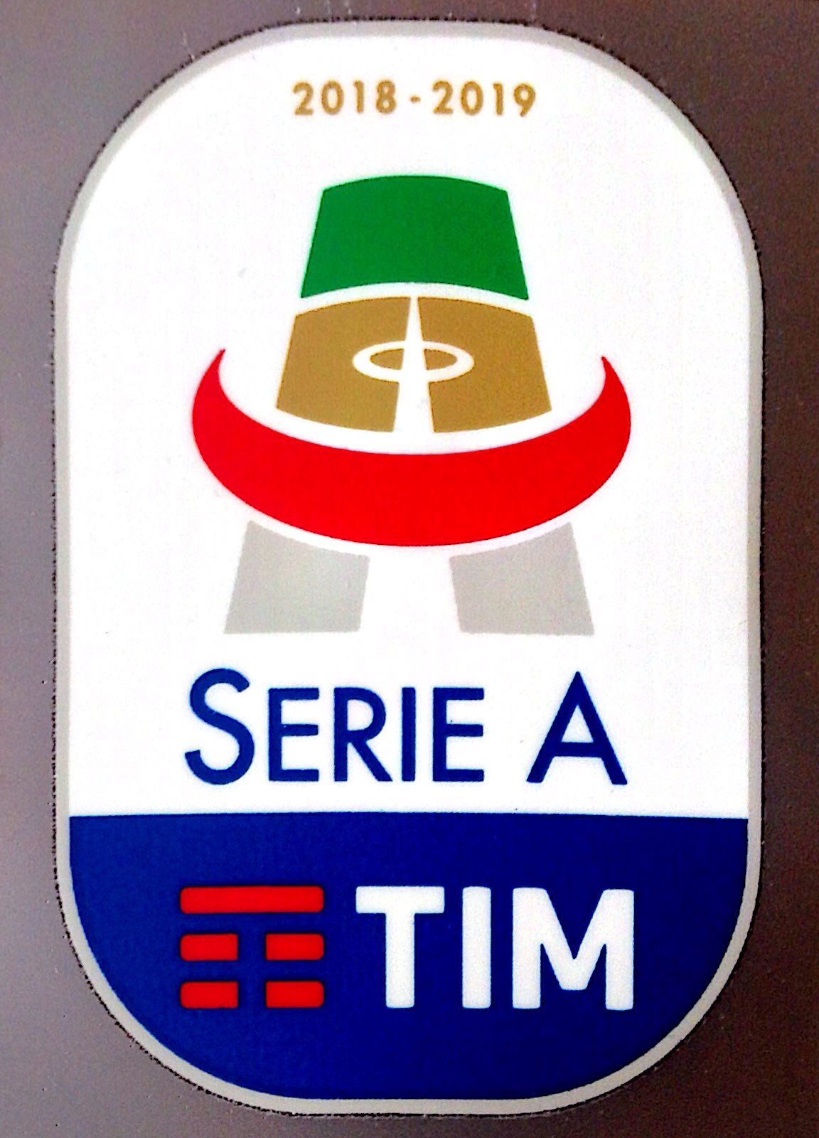 2018 19 Italian Serie A Tim Lega Calcio Official Player Issue Size Football Badge Patch