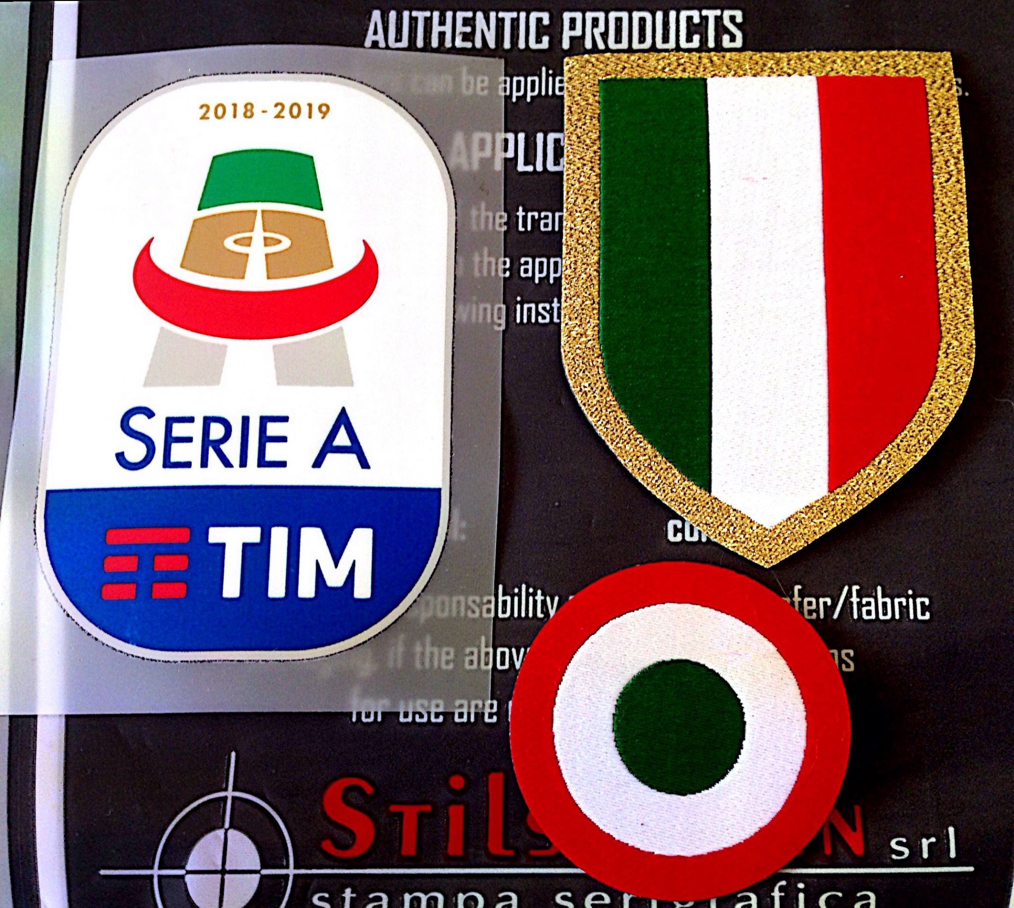 2018 19 Juventus Serie A Scudetto Coppa Italia Official Player Issue Size Soccer Badge Patch Set