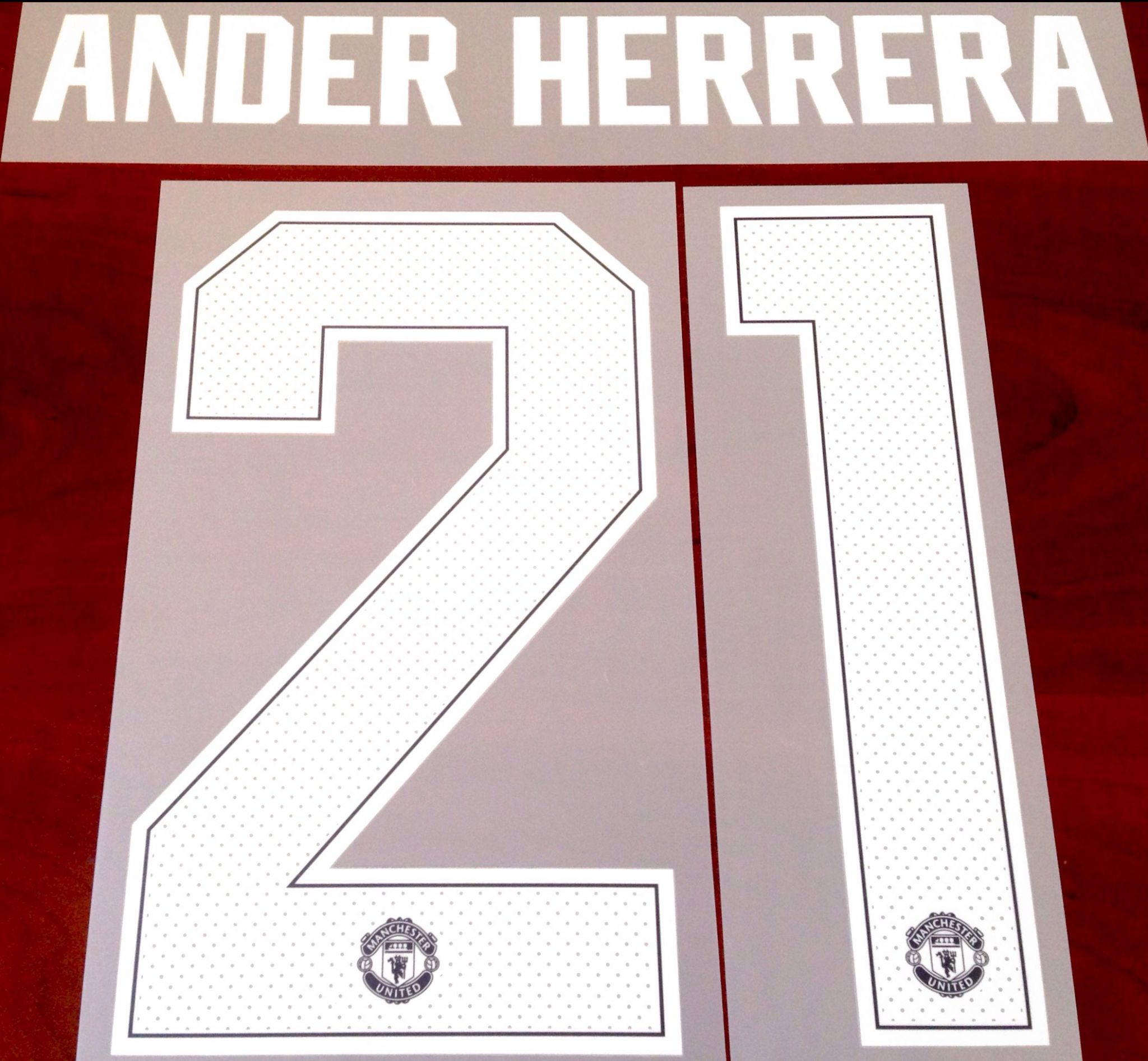 brand new 43ab2 bd0e0 2018-19 Manchester Utd UCL & FA CUP Home Shirt ANDER HERRERA#21 Official  Player Size Name Number Set