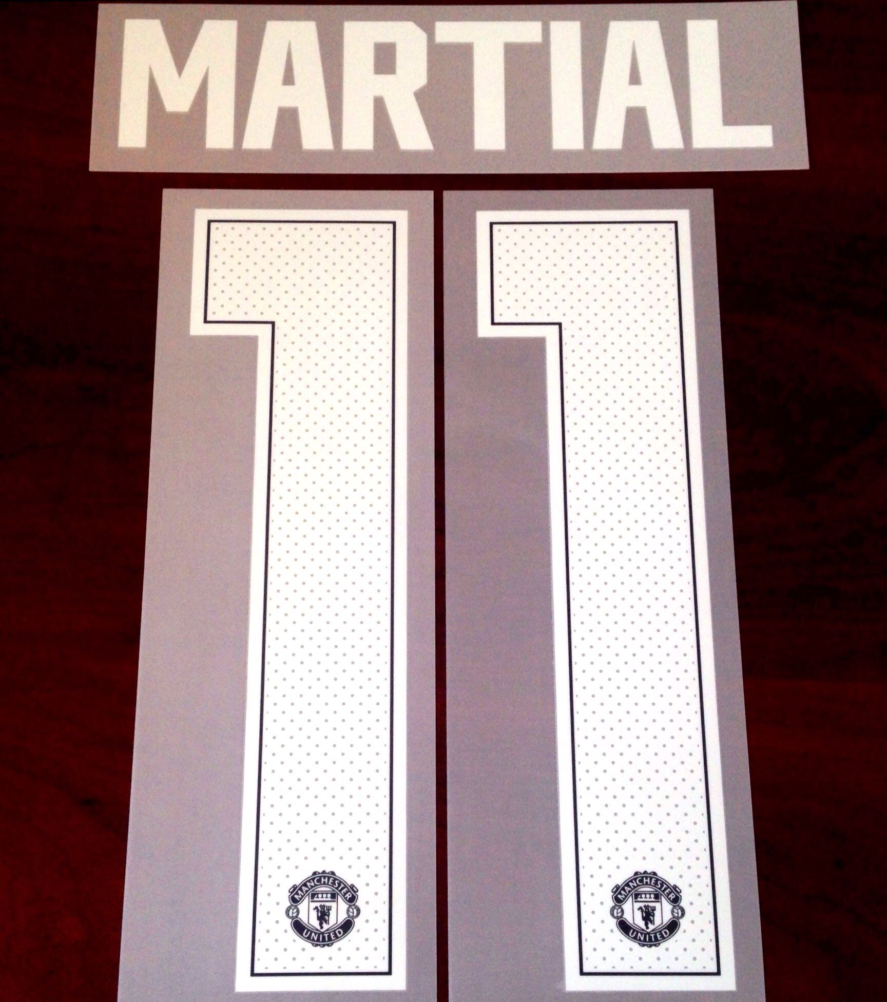 low priced 34f25 cfa62 2018-19 Manchester Utd UCL & FA CUP Home Shirt MARTIAL#11 Official Player  Issue Size Name Number Set