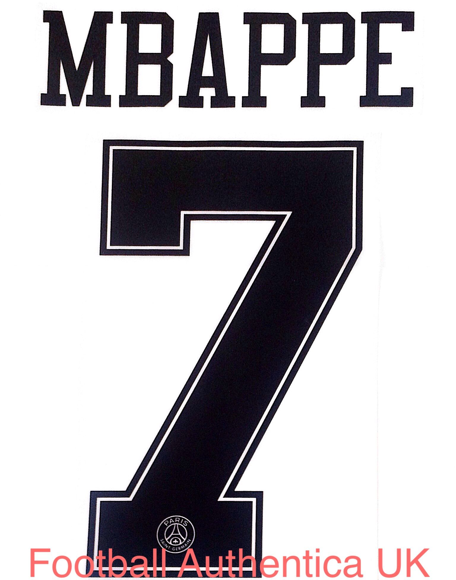 half off 54e02 f080c 2018-19 PSG Paris UCL Third Jordan X Shirt MBAPPE#7 Official Player Issue  Size Name Number Set.