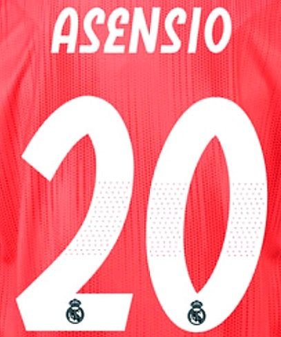 separation shoes ac10a 1c3ba 2018-19 Real Madrid Away & Third Shirt ASENSIO#20 Official SportingiD Name  Number Set