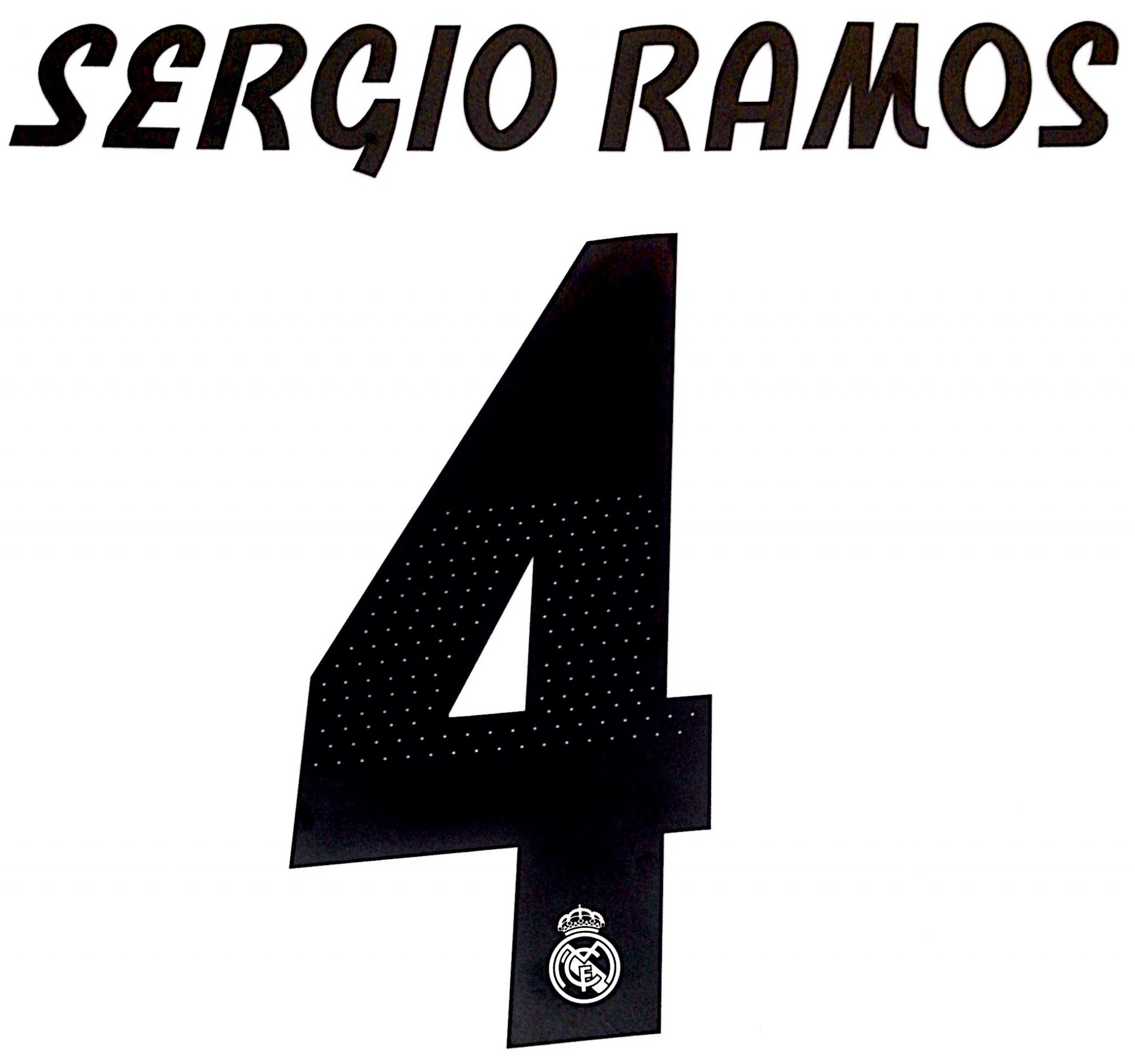 sale retailer f5570 602ec 2018-19 Real Madrid UCL Home Shirt SERGIO RAMOS 4 Official ...