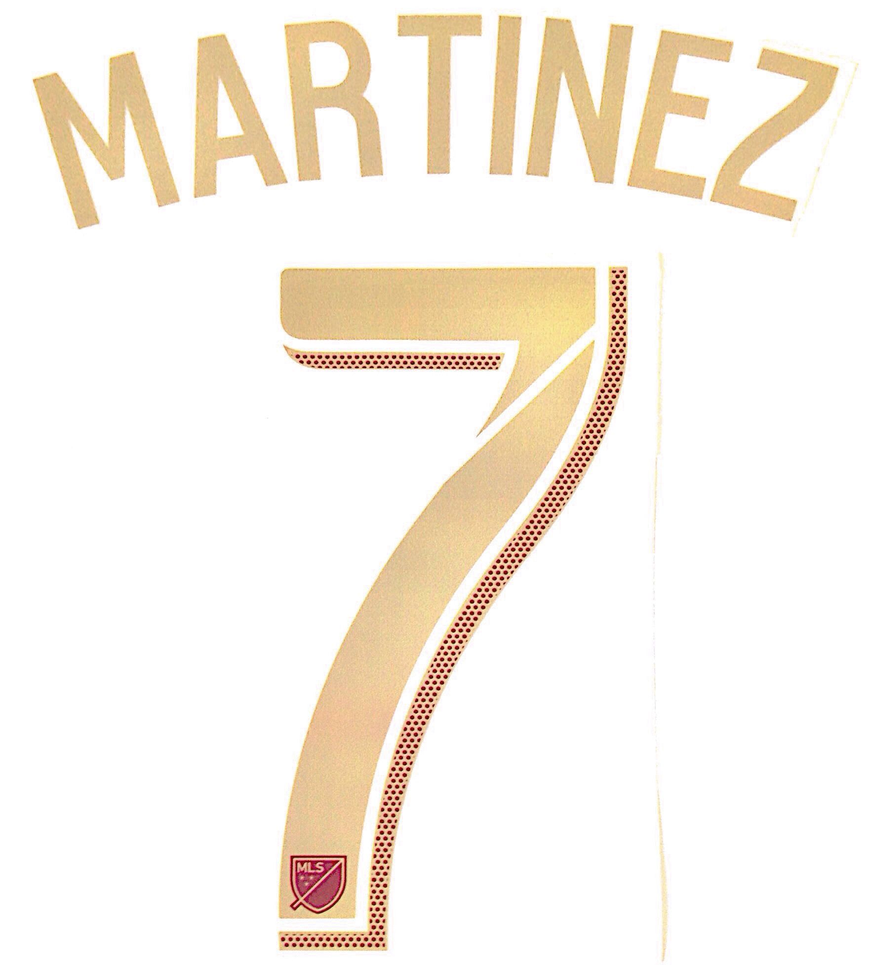 purchase cheap d1c63 b2631 2018 Atlanta United MLS Home Shirt MARTINEZ 7 Official ...