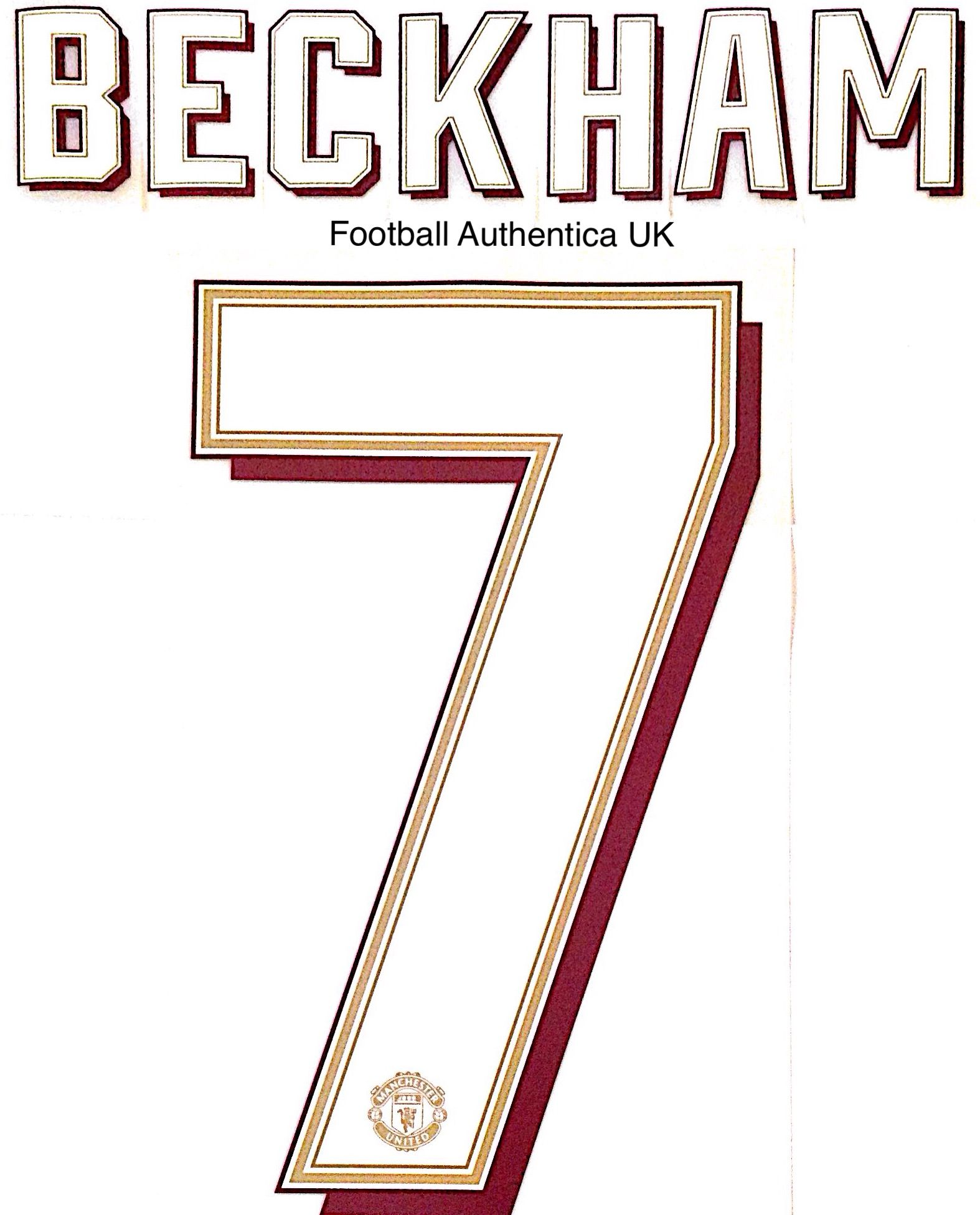 2019 20 Manchester United Europa Fa Cup Carabao Cup Home Shirt Beckham 7 Official Name Number Set