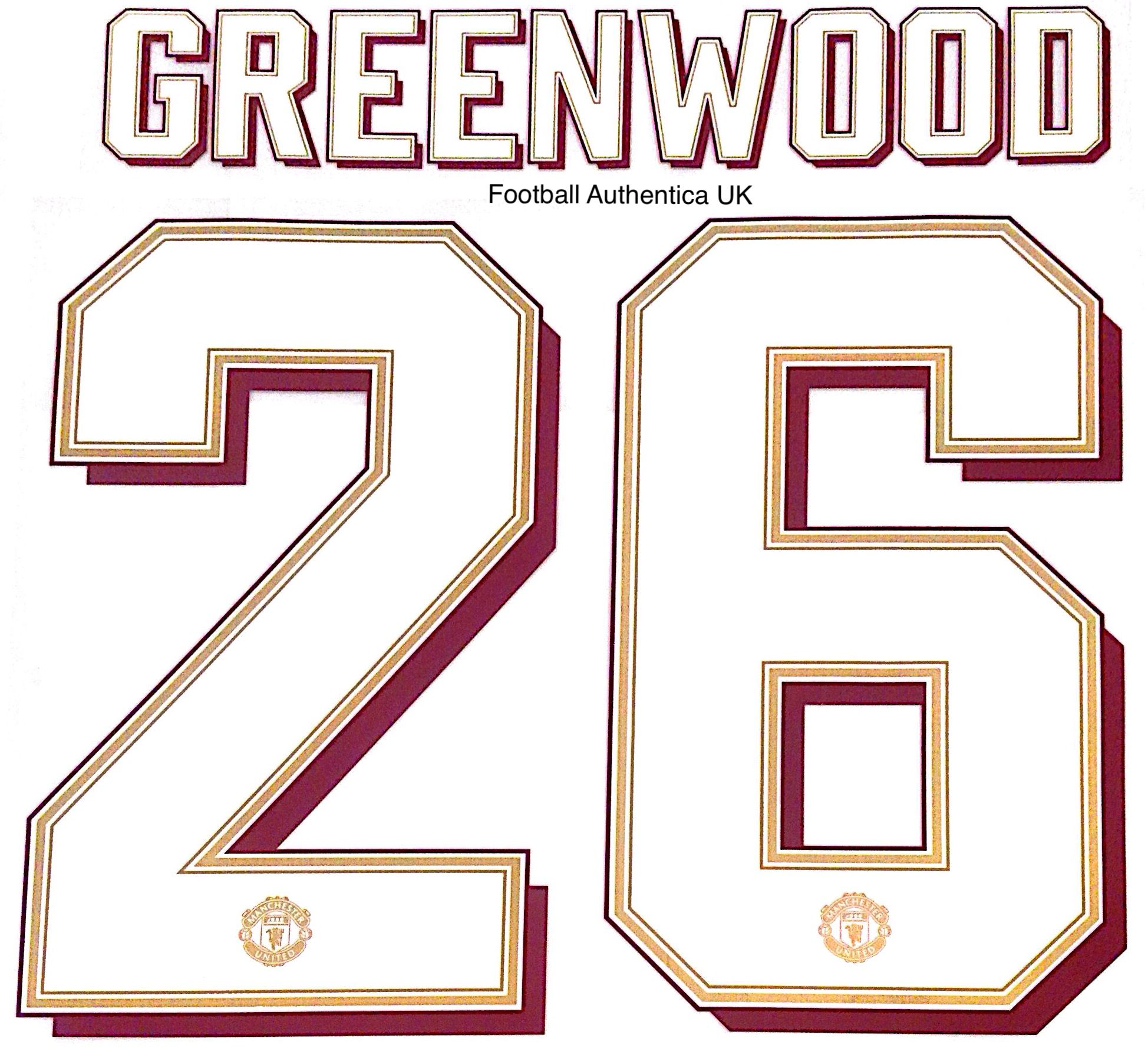 2019 20 Manchester United Europa Fa Cup Carabao Cup Home Shirt Greenwood 26 Official Name Number Set