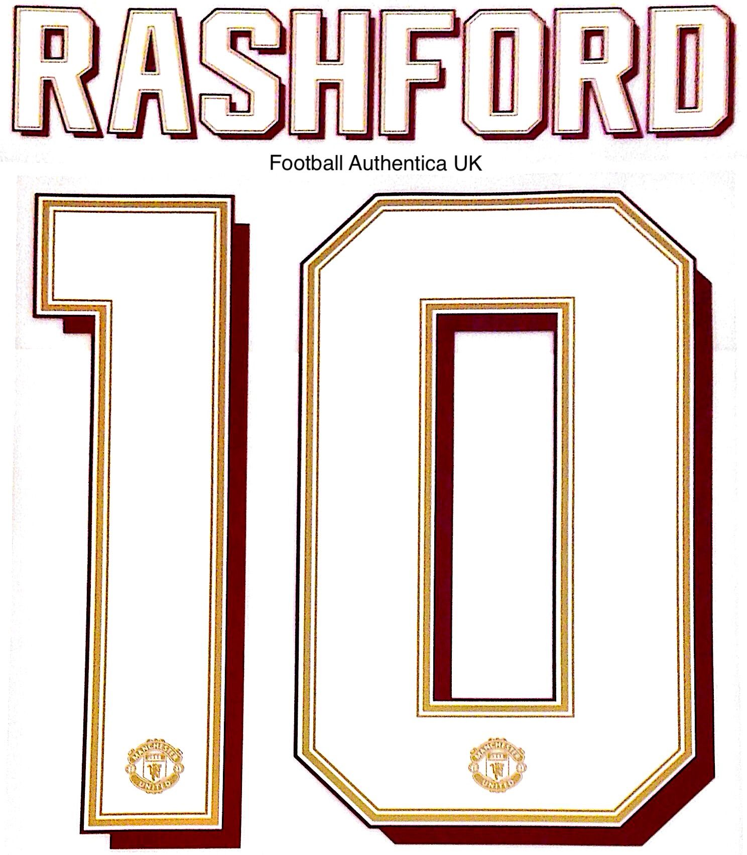 2019 20 Manchester United Europa Fa Cup Carabao Cup Home Shirt Rashford 10 Official Name Number Set