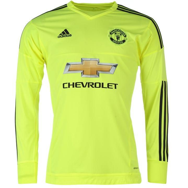 8dc6de0cf ADIDAS AC1465 Manchester Utd Football Soccer Away Goalkeeper Shirt 2015-16  - Size Large NEW