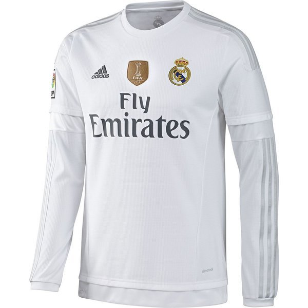 online store 56059 89dad ADIDAS AK2495 Real Madrid FIFA WORLD CLUB CHAMPIONS Football Home L/S Shirt  2015-16 Size Large NEW