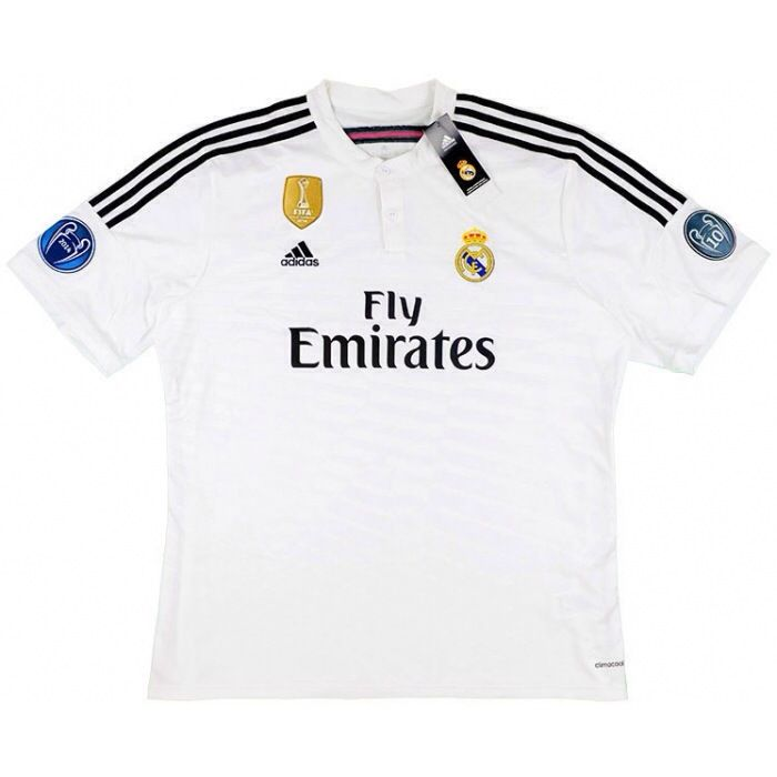 febd0ed256e 2014-15 Official Adidas REAL MADRID Home Football Soccer Shirt Jersey