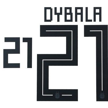 quality design 75902 f2327 Argentina WORLD CUP 2018 Home Shirt 2018-19 DYBALA#21 Adidas DEKOGRAPHICS  Football Name Number Set