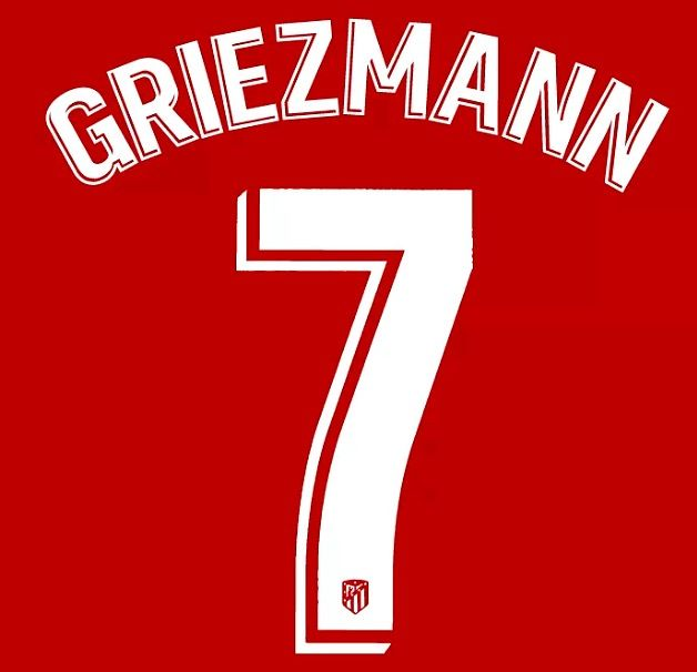 competitive price fb1b9 8b0ae Atletico Madrid LA LIGA Home Shirt 2018-19 GRIEZMANN#7 Official SIPESA Name  Number Set