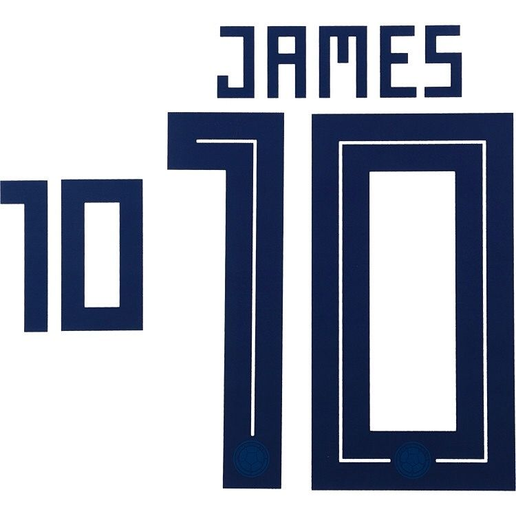 the best attitude 0c699 52496 Colombia WORLD CUP 2018 Home Shirt 2018-19 JAMES#10 Adidas DEKOGRAPHICS  Football Name Number Set