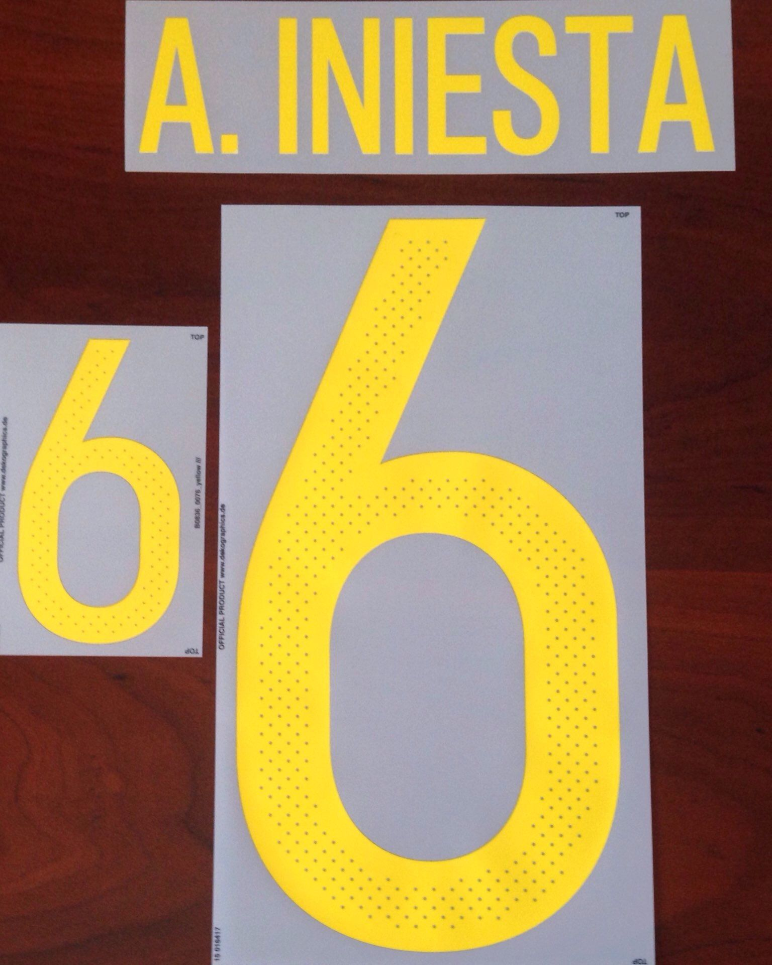 d63e8606fbd EURO 2016 Spain Home Shirt 2016-17 A.INIESTA 6 Adidas DekoGraphics Name  Number Set