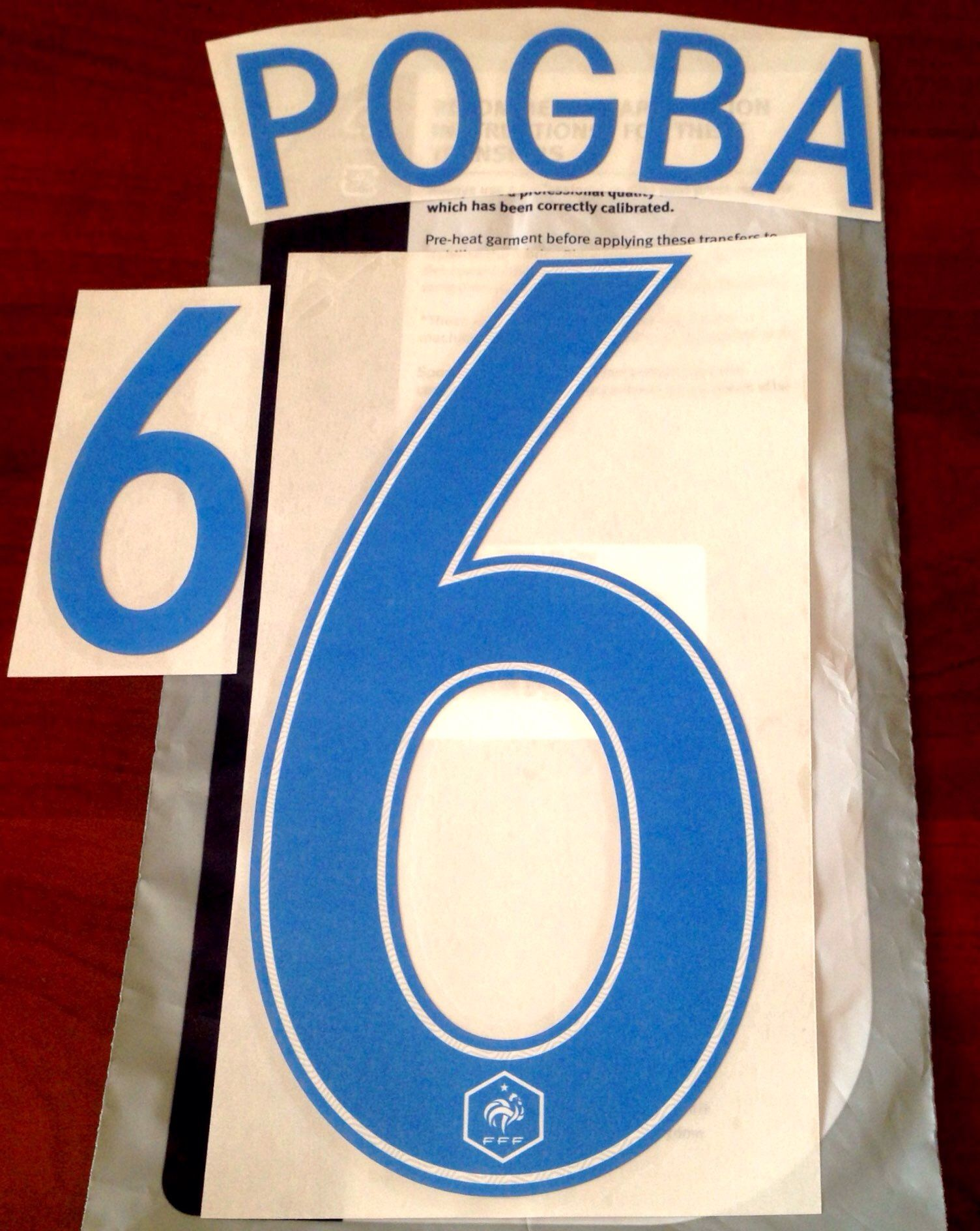 super popular 318c0 aa0fc France Third Shirt 2017-18 POGBA#6 Nike PS-Pro SportingiD Football Name  Number Set