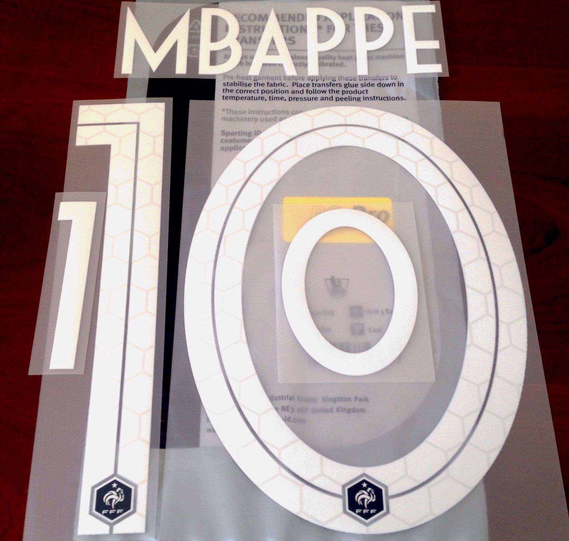half off a967c 5e667 France WORLD CUP 2018 Home Shirt 2018-19 MBAPPE#10 Nike PS-Pro SportingiD  Name Number Set