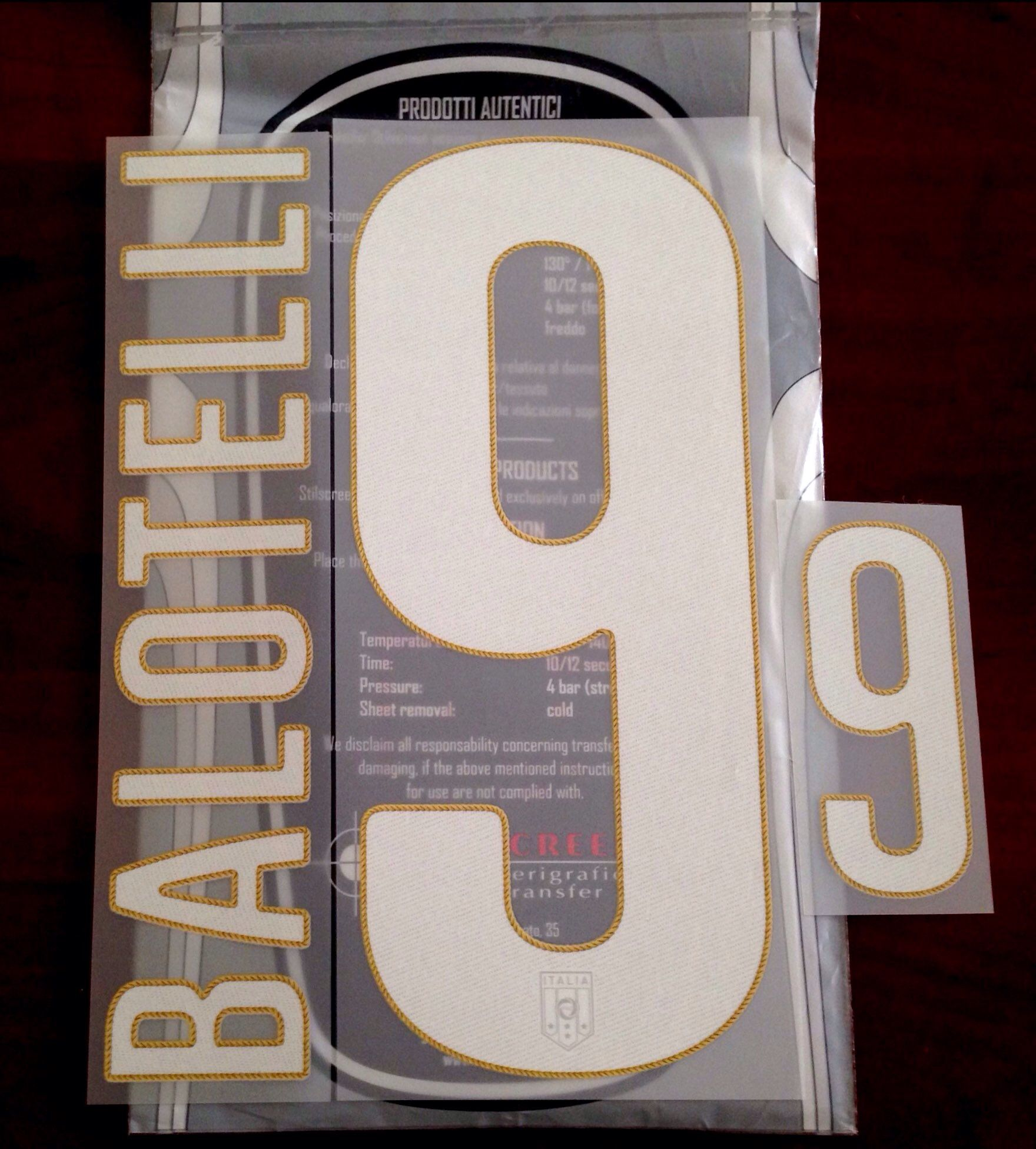 332a72566 Italy WORLD CUP 2014 Home Shirt 2014-15 BALOTELLI 9 OFFICIAL Puma  StilScreen Name Number Set