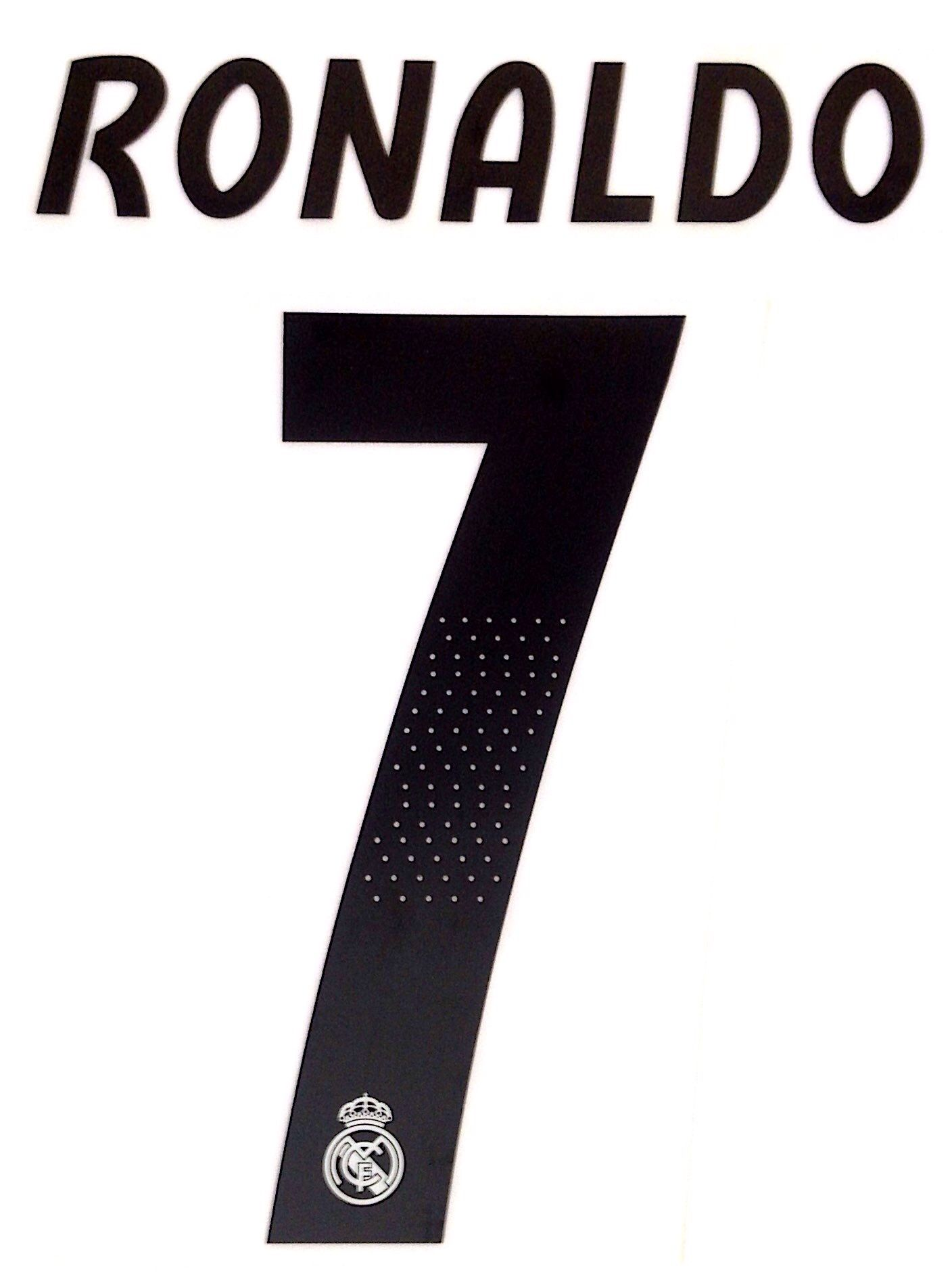 KIDS 2018-19 Real Madrid HERO SET Home Shirt RONALD0 7 Official SportingiD  Name Number Set 6e83fc192