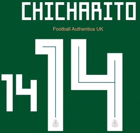 5cf3a72ce Mexico WORLD CUP 2018 Home Shirt 2018-19 CHICHARITO 14 Adidas DekoGraphics  Name Number Set