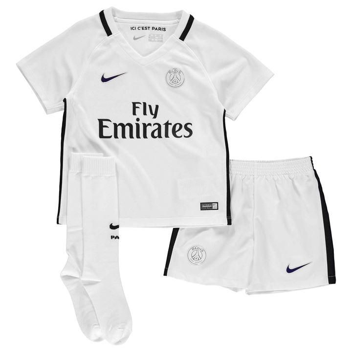 a2a73441723 NIKE 378309-145 KIDS-BOYS Paris PSG Football Soccer Third MiniKit ...