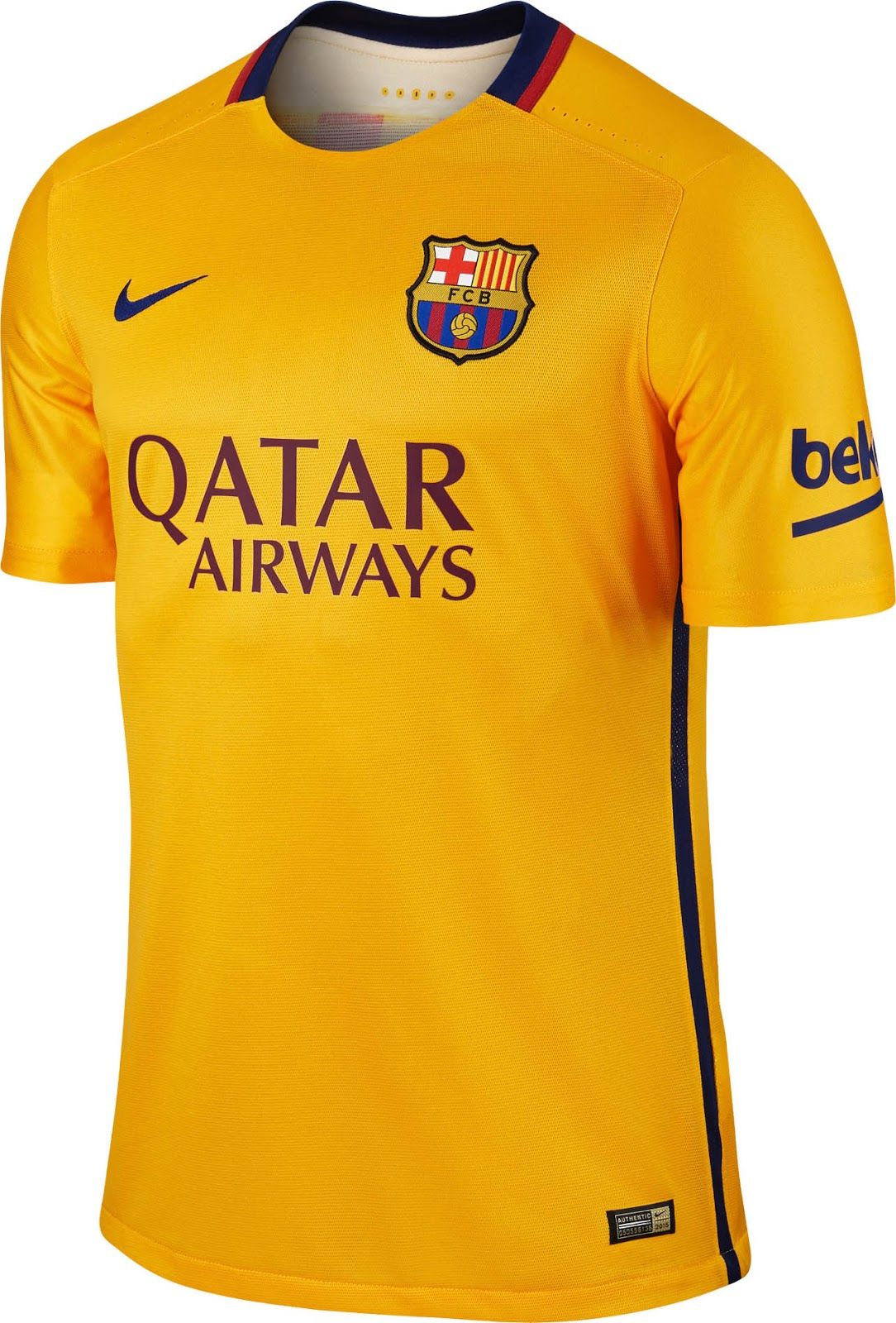 ab39e0933 2015-16 Official Nike FC BARCELONA Away Football Soccer Shirt Jersey